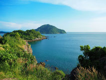观点Noen Nang Phaya Kung威曼海湾庄他武里 免版税图库摄影