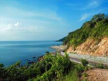 观点Noen Nang Phaya Kung威曼海湾庄他武里 免版税库存照片