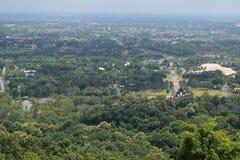观点Wat土井西康省视图清迈的泰国土井西康省 库存照片
