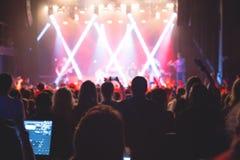 观看与艺术家的观众场面 免版税库存图片