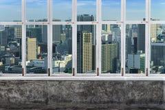 观看东京地平线,东京市,从白色A的日本都市风景  库存照片