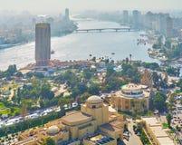 观看从开罗塔,埃及的尼罗 免版税库存照片