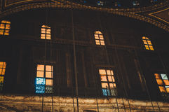 观看在老清真寺里面在开罗,埃及 图库摄影