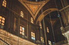 观看在老清真寺里面在开罗,埃及 免版税图库摄影