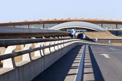 观看在终端3,北京资本国际Aiport 库存照片