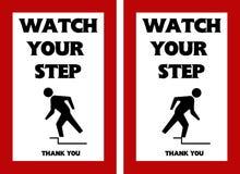 观看您的步警报信号跳开的危险 库存图片