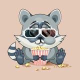 观看电影的浣熊崽 免版税库存照片
