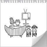 观看的电视 库存照片