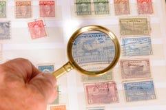 观看的邮票 免版税库存照片