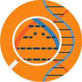 观看的Nanobots抽象象通过显微镜 图库摄影