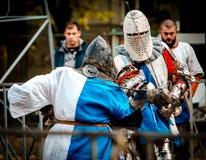 观看骑士比赛 库存图片