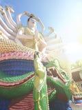 观音工业区苏梅岛12月2015年泰国雕象  免版税图库摄影