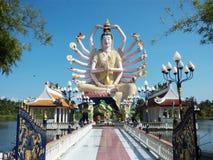 观音工业区苏梅岛12月2015年泰国雕象  免版税库存照片
