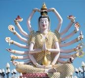 观音工业区12月2015年泰国雕象  免版税库存照片