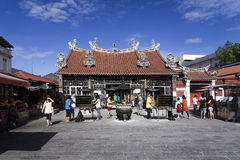 观音菩萨的寺庙在槟榔岛马来西亚 免版税库存图片