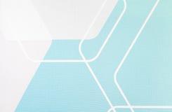 规则几何织品纹理浅兰和白色背景,布料样式 免版税库存照片