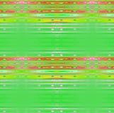 规则条纹和椭圆仿造水平地被弄脏的鲜绿色的黄色桃红色红色紫罗兰 库存照片