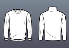 规则毛线衣和高领衫 免版税库存图片