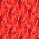 规则波浪线和圈子垂直仿造红色树荫维度 库存图片