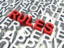规则 免版税图库摄影