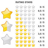 规定值星- 0到5 向量例证