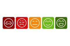 规定值的Emojis Eps10?? 皇族释放例证