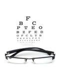 视力检查表测试 图库摄影