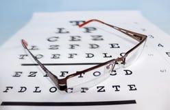 视力检查表 库存照片