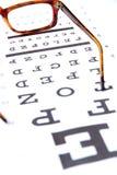 视力测定概念 免版税库存照片