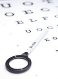 视力测定概念 库存图片