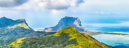 视图从观点 毛里求斯 全景风景 免版税库存图片