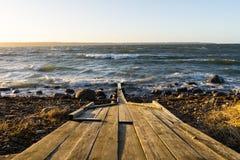 视图向波罗的海 库存图片