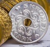 视图的接近的货币丹麦 免版税库存照片