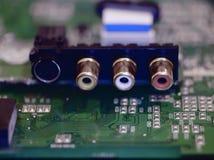 视图的看板卡接近的声音 库存照片