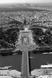 巴黎视图从埃佛尔铁塔的 免版税库存图片
