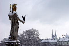 视域多雪的维也纳 免版税库存图片