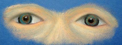 视域 仅两只眼睛 皇族释放例证