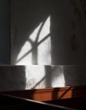 视窗光在教会里 库存图片