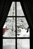 视窗冬天 免版税图库摄影