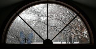 视窗冬天 免版税库存照片