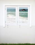 视窗有海运视图 免版税图库摄影
