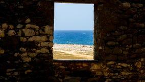 视窗的海运 免版税库存照片