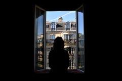 视窗的巴黎 库存图片