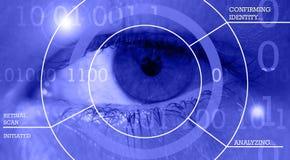 视网膜扫描和生物统计的安全 免版税图库摄影