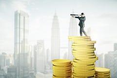 视觉和金钱概念 免版税库存图片