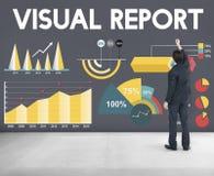 视觉报告百分比企业图概念 库存图片