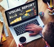 视觉报告百分比企业图概念 图库摄影