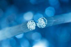 视觉纤维缆绳连接 免版税库存照片