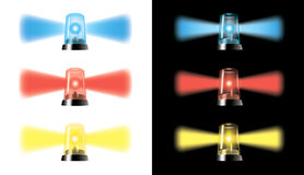 视觉警告灯-特殊汽车发信号- eps 免版税库存图片