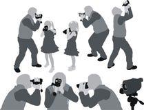 视频家庭的射击 免版税库存图片